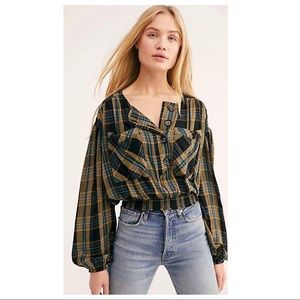 Free People | It's The Good Life Plaid Top